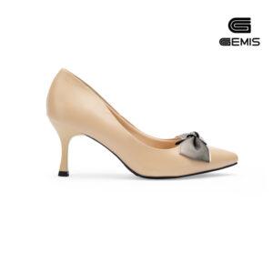 Giày Cao Gót Nơ Lụa 7cm Gemis - GM00155