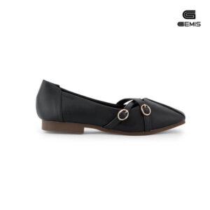 Giày Mũi Vuông Khoá Chéo - GM00104