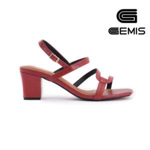 Sandal Cao Gót Vân Rắn 5CM Gemis - GM00036