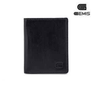Ví Đứng Da Bò Đen Gemis - GM00046
