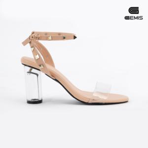 Sandal Gót Trong7cm Nạm Đinh Gemis