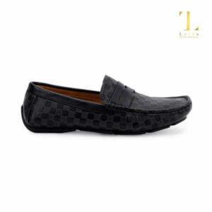 Giày Mọi Nam Da Bò Kẻ Lutra - 5704