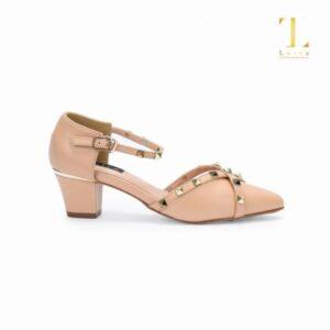 Giày cao gót 5cm nạm đinh Lutra  - 5299