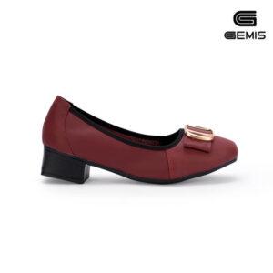 Giày Cao gót 3cm da bò khoá vuông - GM00162