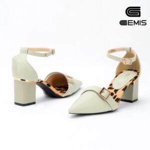 Giày cao gót 7cm phối lót báo GEMIS GM00273 Xưởng Giày 02