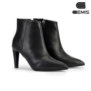 Boots đen 7cm da tổng hợp